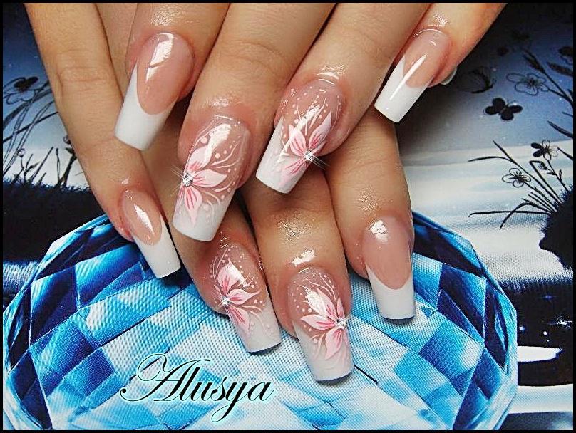 Фото ногтей френч белый красивые