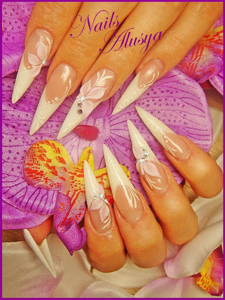 Наращивание ногти рисунки